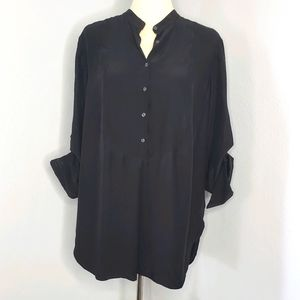 Kenneth Cole NY black sz 10 blouse top tunic